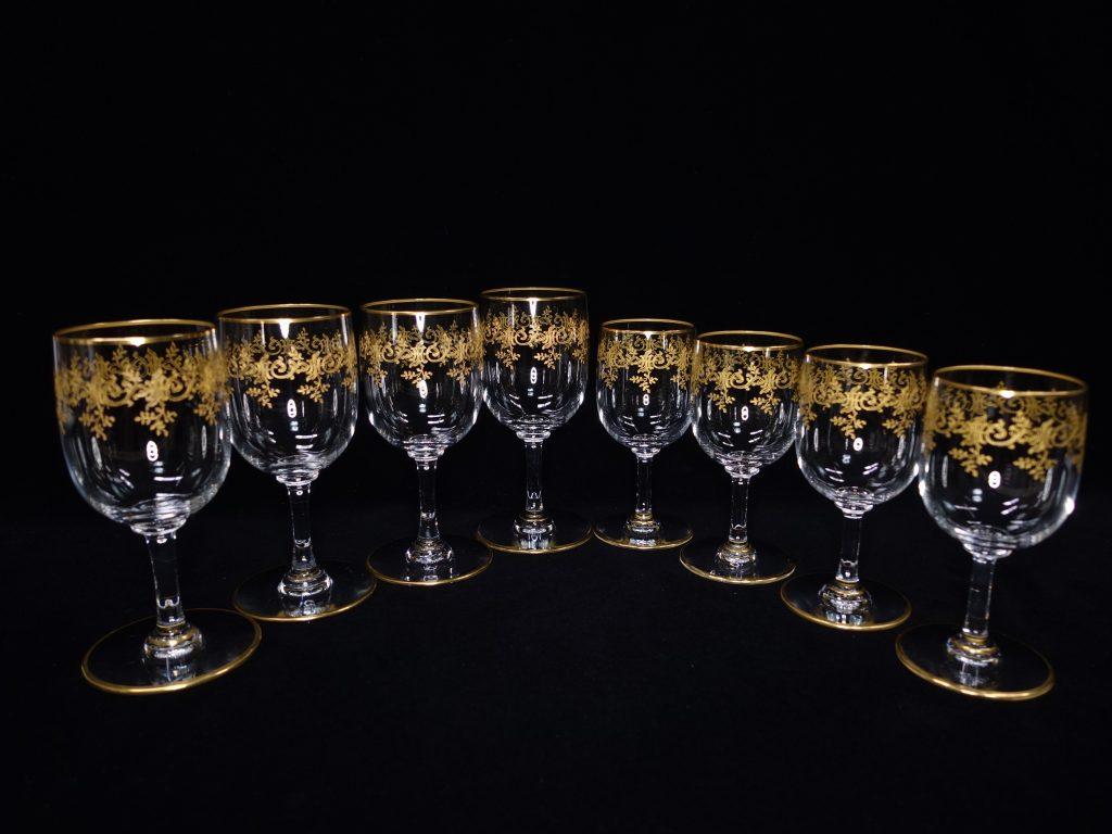 【バカラ】Baccarat 「セビーヌ 金彩 ワイングラス4客 ミニグラス4客」を買取り致しました。