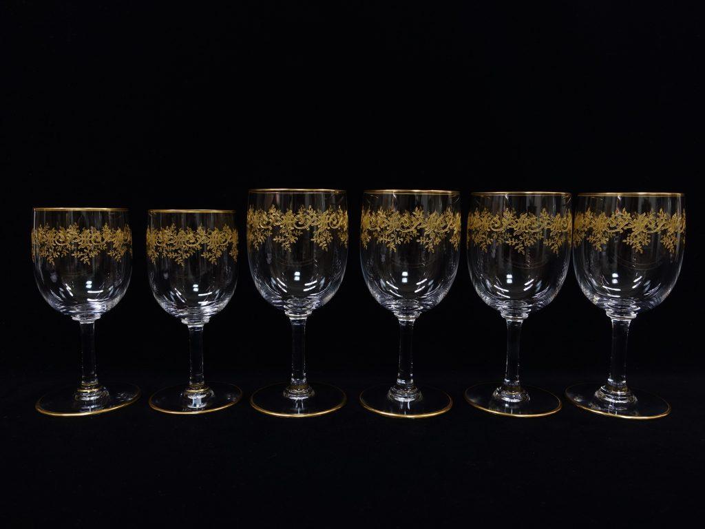 【バカラ】Baccarat「セビーヌ 金彩ワイングラス」を買取致しました。