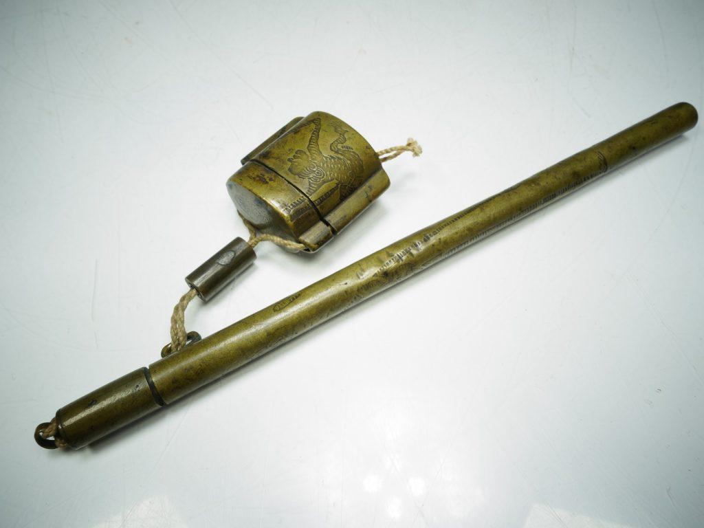 【硯・書道具】「印籠型黄銅矢立」を買取り致しました。