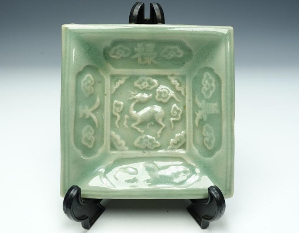 【古陶磁器】無銘「青磁小皿」を買取致しました。