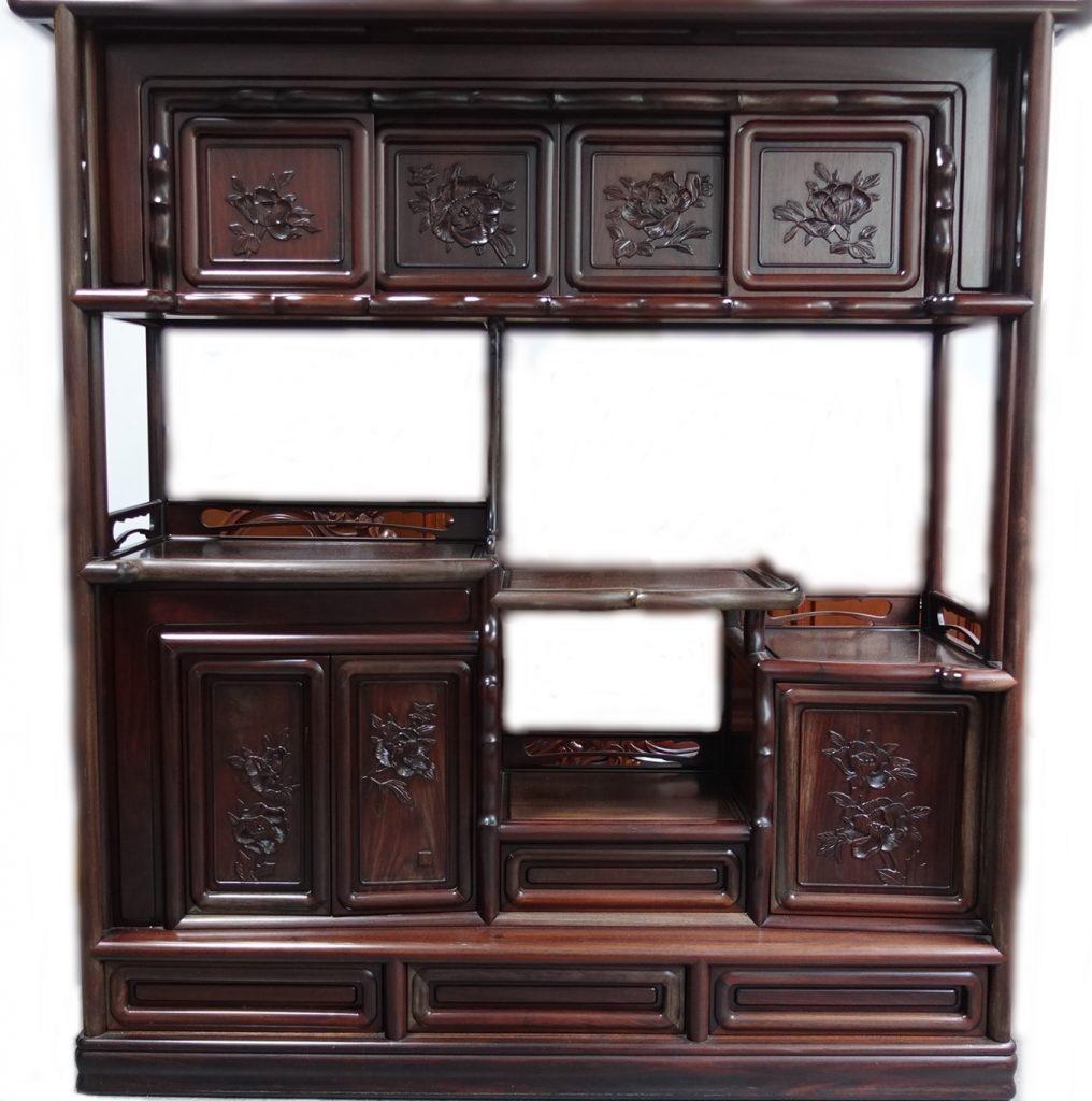 【茶棚・飾り棚】「黒檀 唐木飾り棚」を買取り致しました。