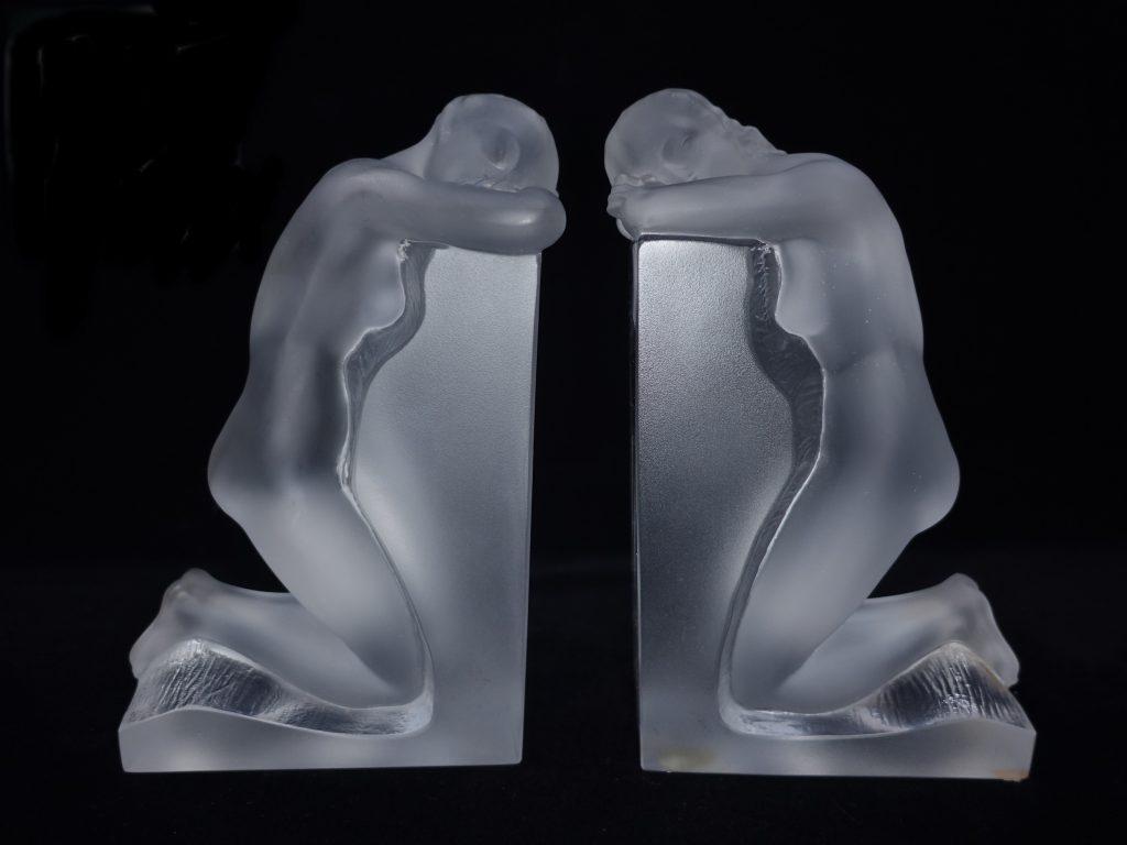 【西洋美術】 ルネ・ラリック(Rene Lalique)「レブリーブックエンド」を買取致しました。
