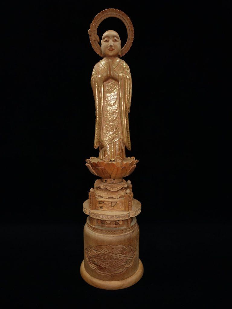 【香木彫刻】 仏像 「白檀彫 浄土両大師」を買取り致しました。