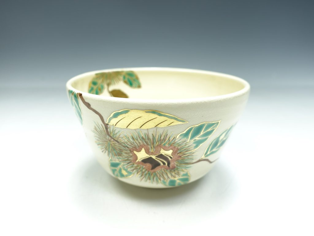 【茶道具】中尾静香 【色絵栗画茶碗】を買取致しました。