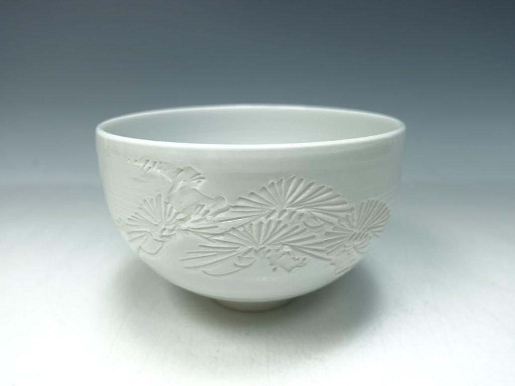 【茶碗】小嶋昇山「出石焼 抹茶椀」を買取り致しました。