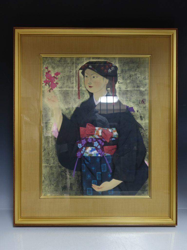 【日本画】森田曠平 「洛北おとめ」を買取り致しました。