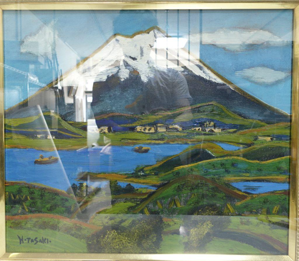 【油彩画(日本)】田崎広助 「箱根の富士」を買取り致しました。