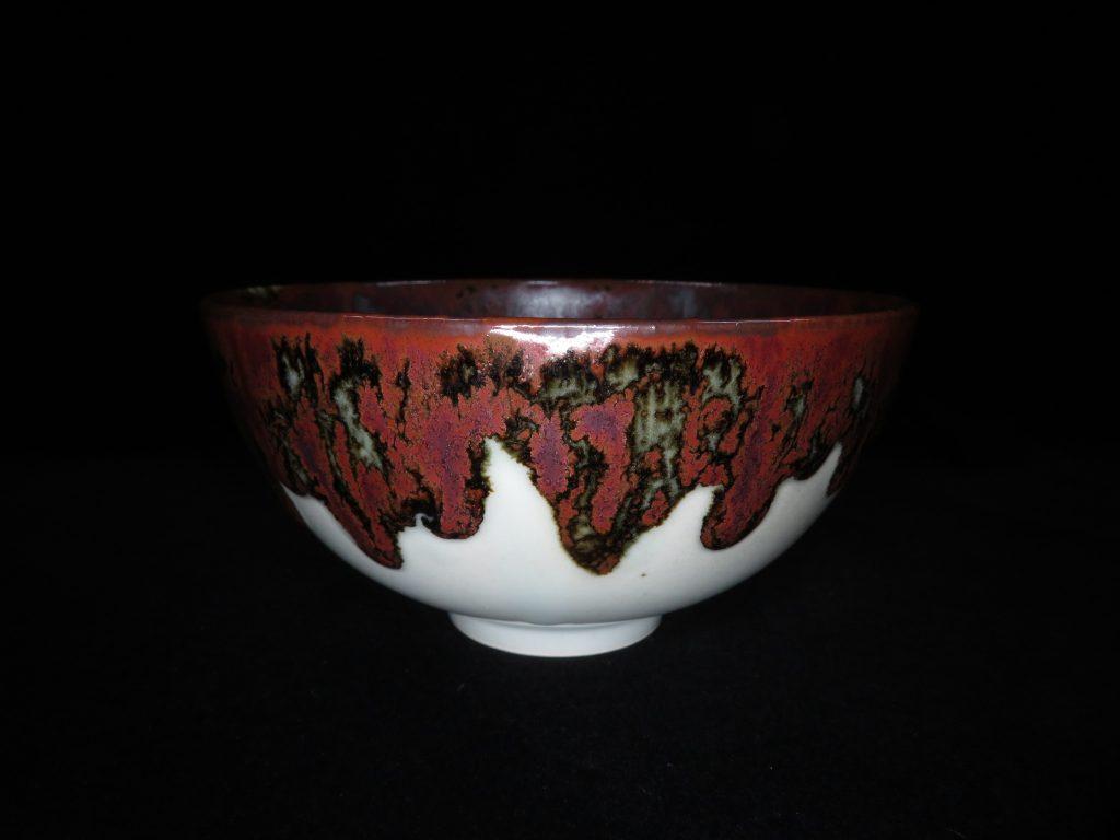 【茶碗】安東五「白磁象嵌茶碗」を買取り致しました。