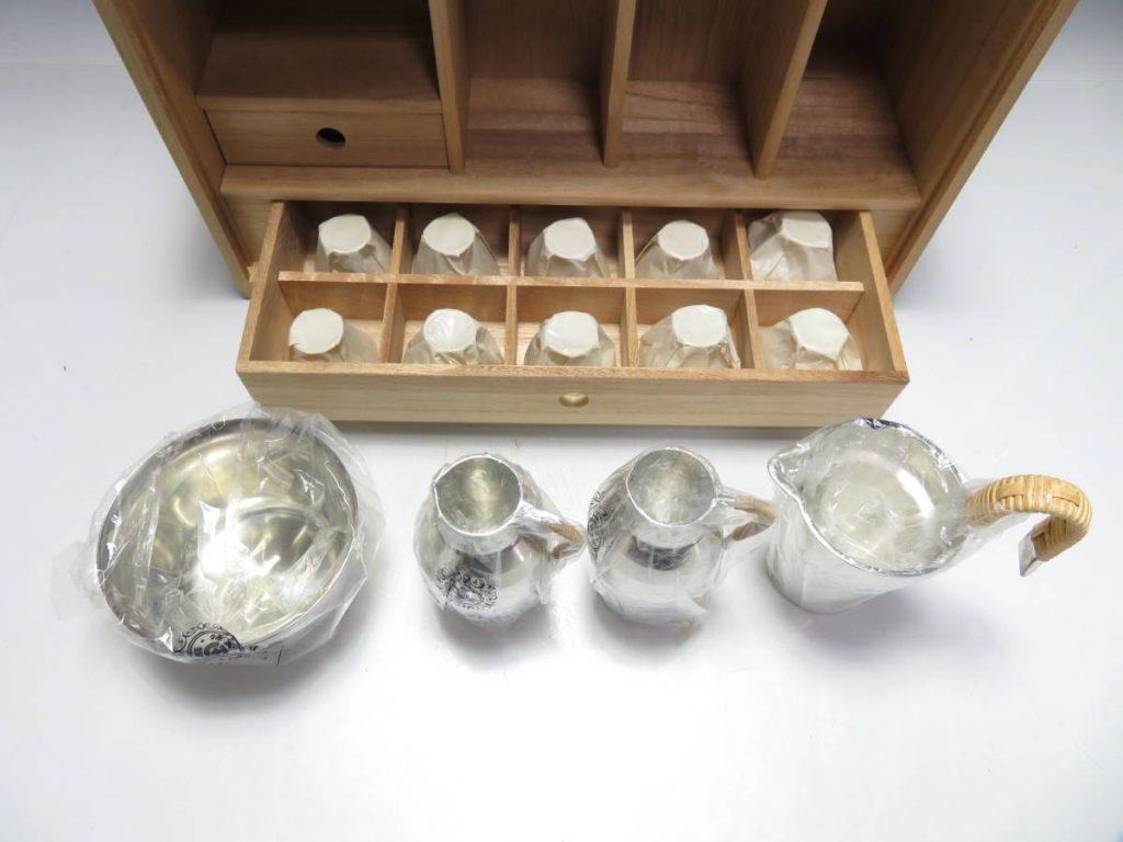 【金工品】錫半「錫製酒器」を買取致しました。