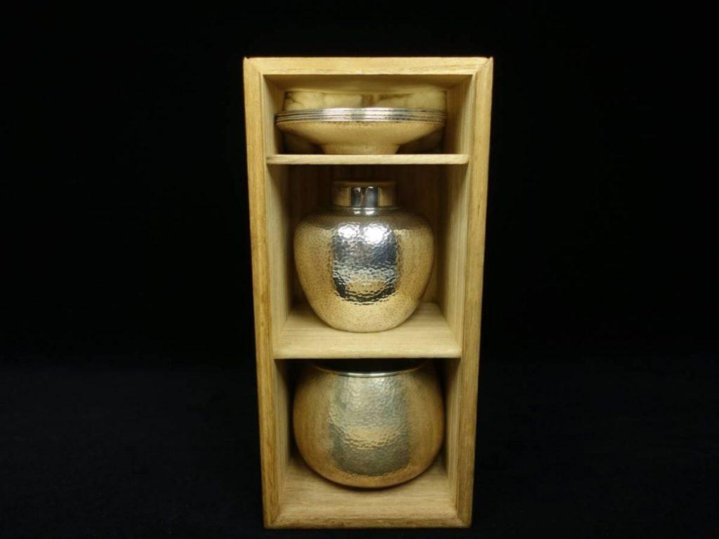 【金工品】金龍堂 松尾忠久 造 「純銀製煎茶器」を買取致しました。