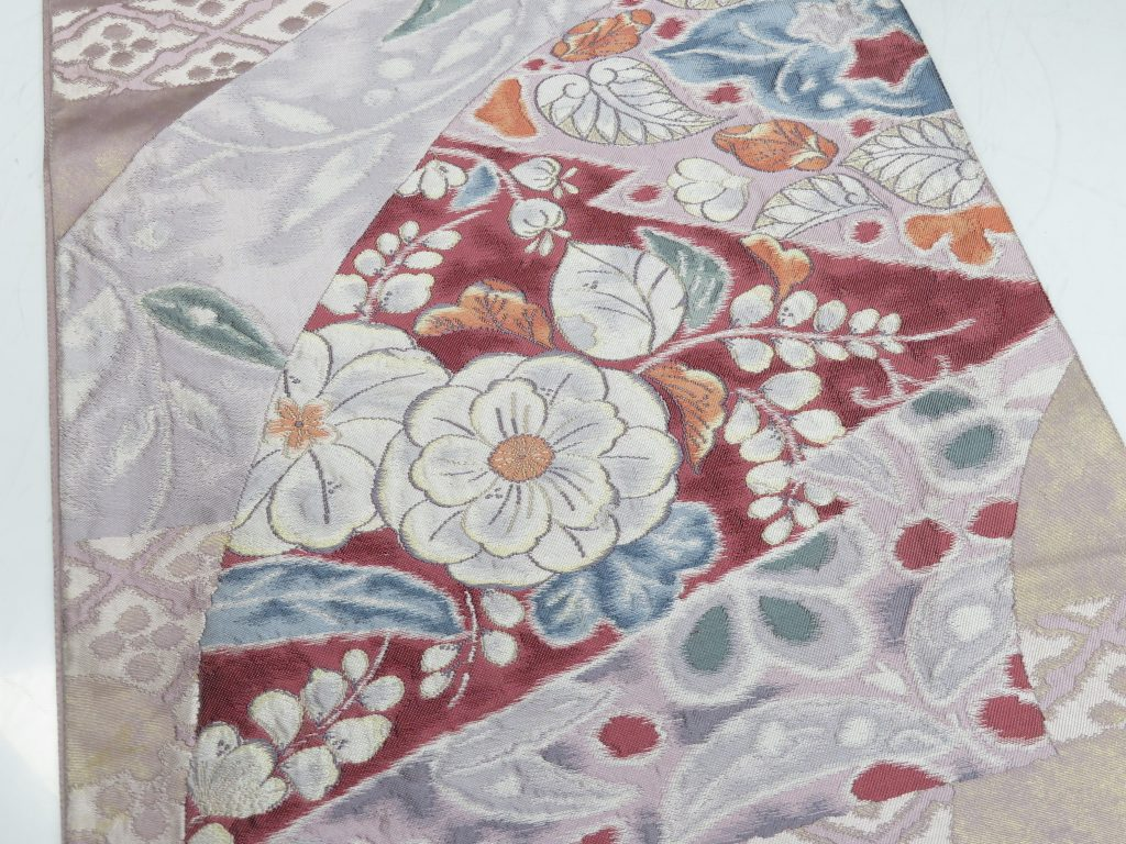 【帯】 花文刺繍袋帯を買取り致しました。