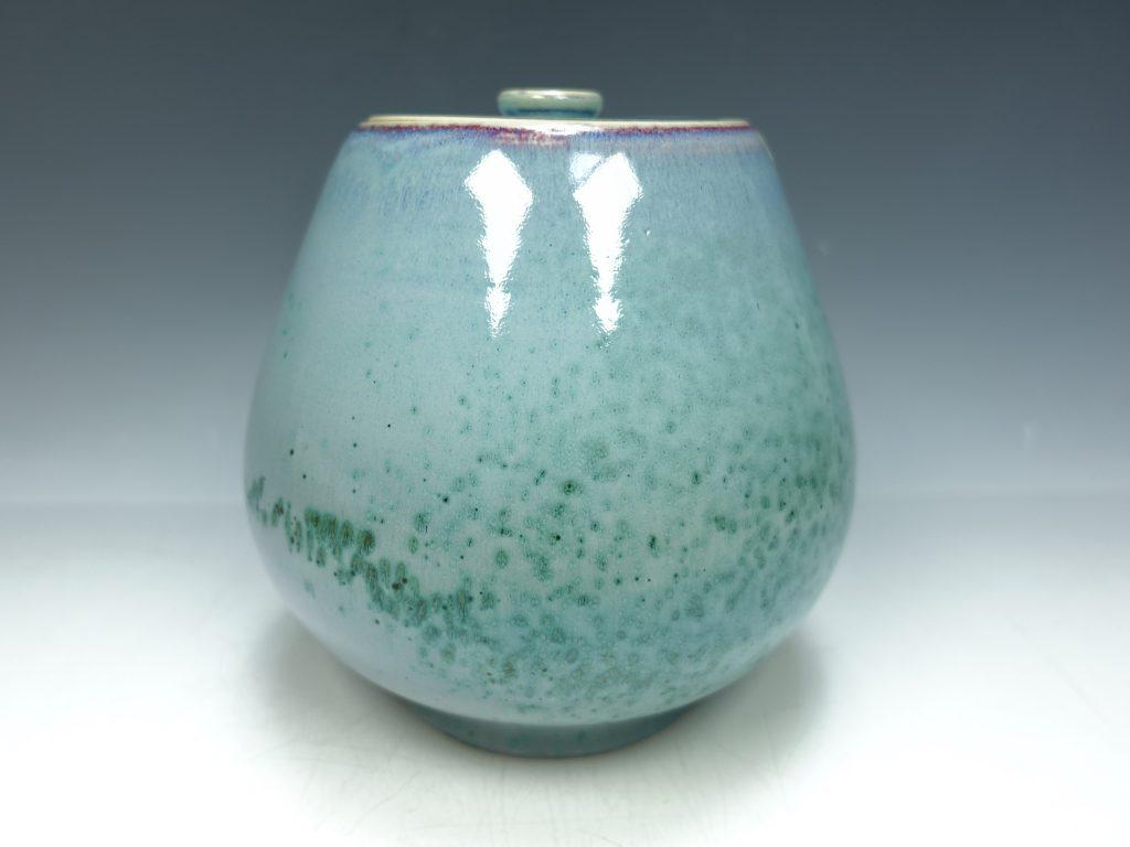 【水指】松山彰輝 「青孔雀釉水指」を買取り致しました。