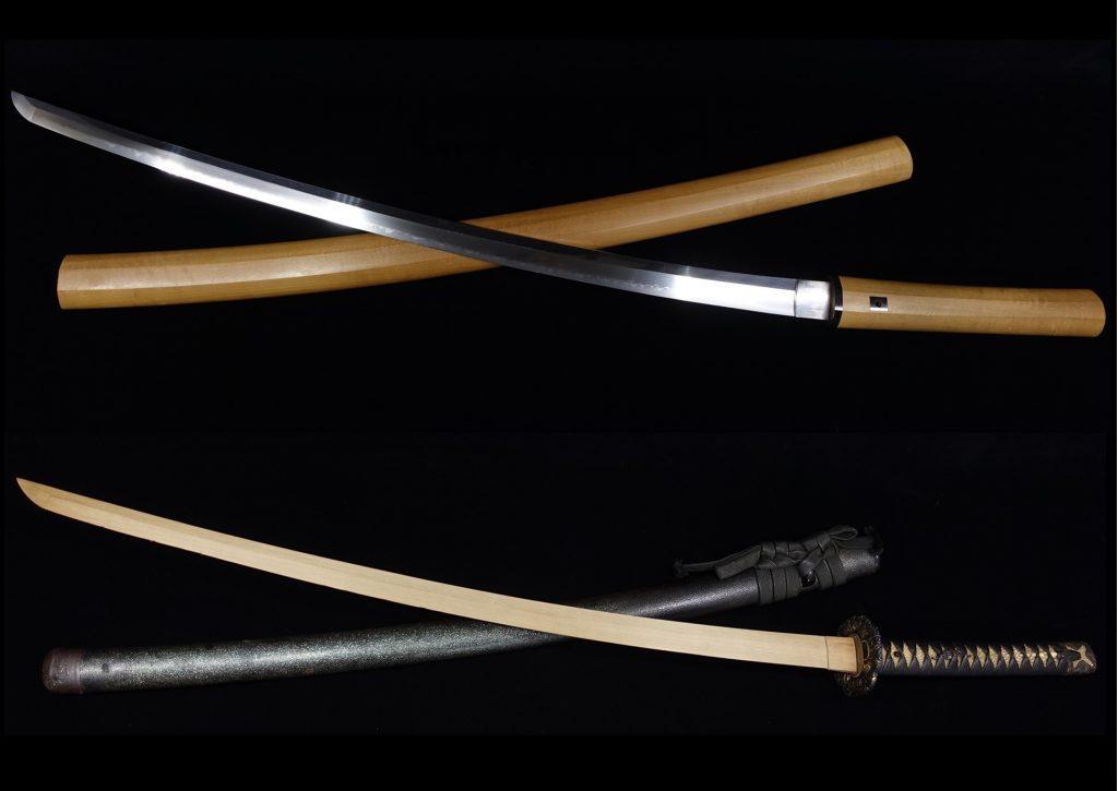 【刀剣】 白鞘 「銘:丹波守吉道・干支象嵌鉄地鍔拵え」を買取り致しました。