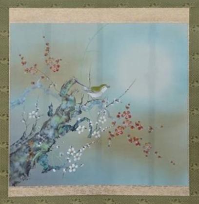 【花鳥図】佐藤玉芳「梅に鶯」を買取り致しました。