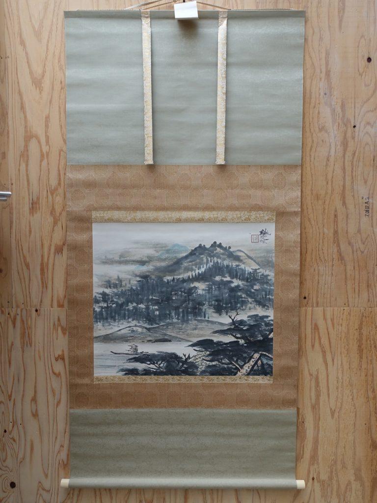 【掛軸】矢野鐵山「山新晩」を買取り致しました。