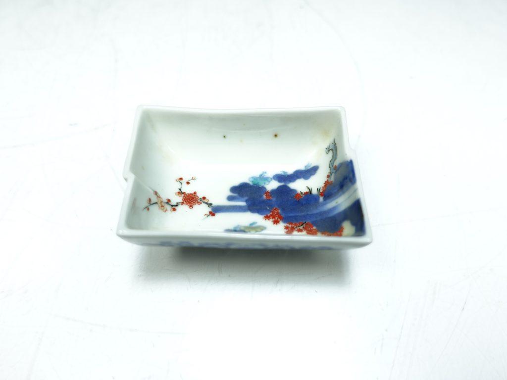 【作家物 磁器】十二代 今泉今右衛門「錦桜松模様長皿」を買取り致しました。