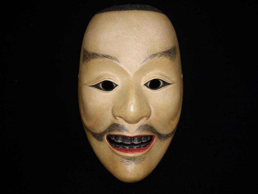【面】弘之作「木彫彩色能面『平太』」を買取り致しました。