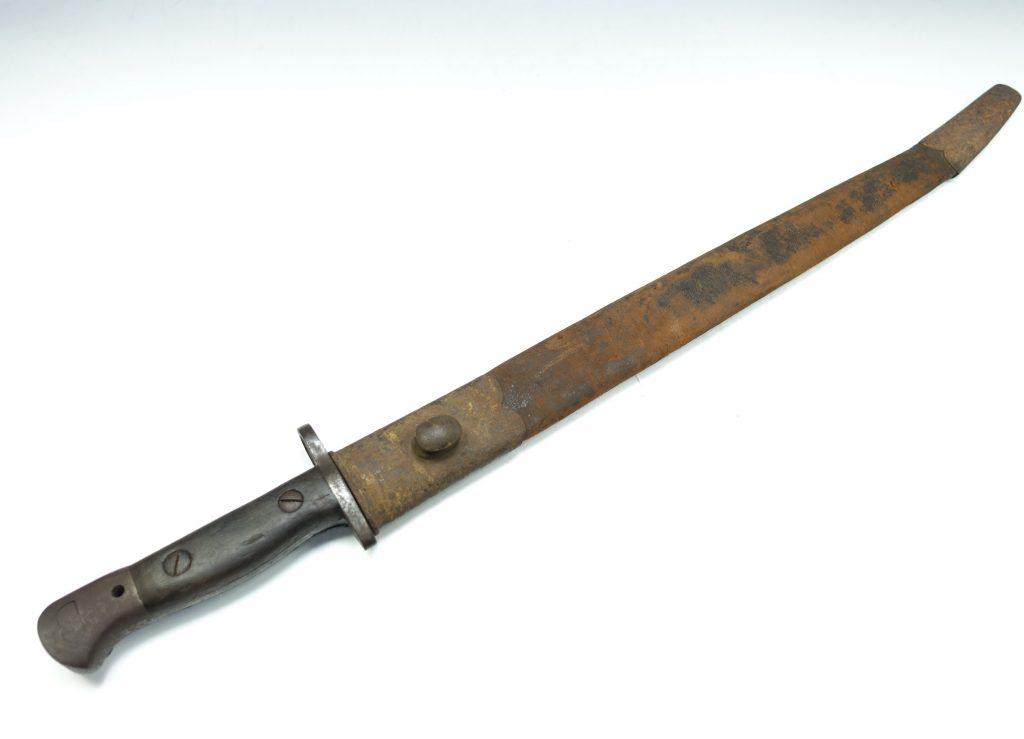 【刀剣・刀装具その他】無銘「ヤタガン式銃剣(鞘付)」を買取り致しました。