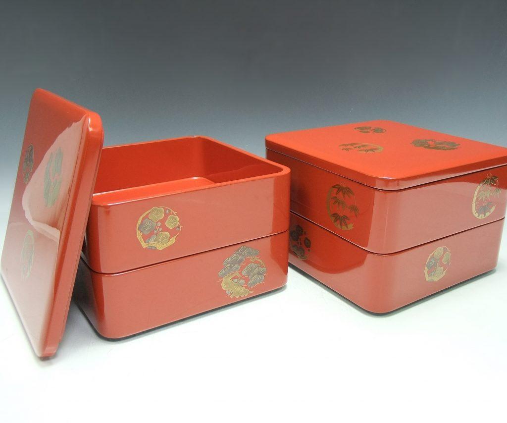 【人間国宝】塩多慶四郎「松竹梅重箱」を買取致しました。