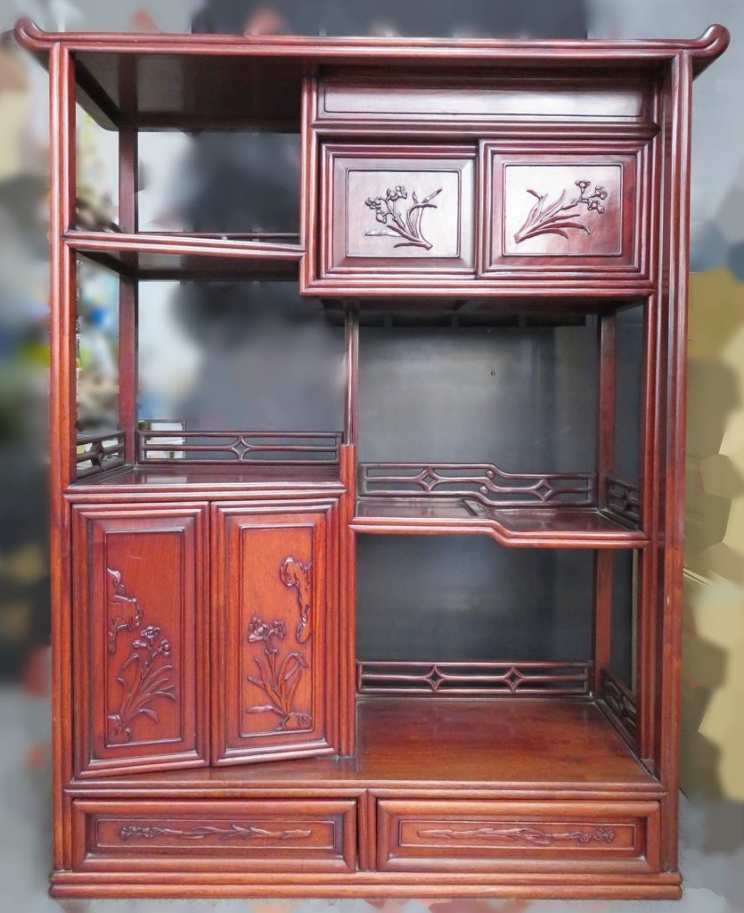 【茶棚・飾り棚】 「唐木飾り棚」を買取り致しました。