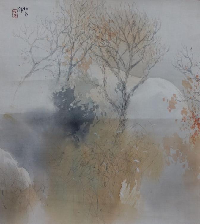 【花鳥図】竹内栖鳳 「秋ノ山々」を買取り致しました。