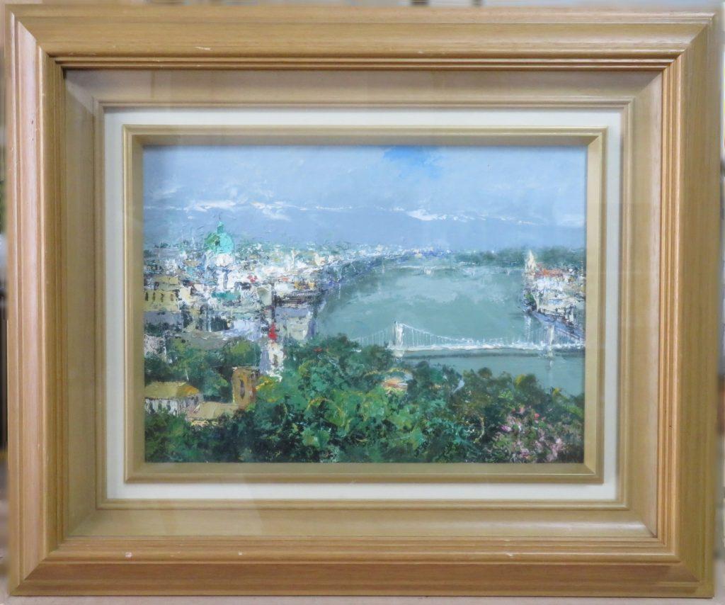 【油彩画(日本)】斎藤要「ドナウ川」を買取り致しました。