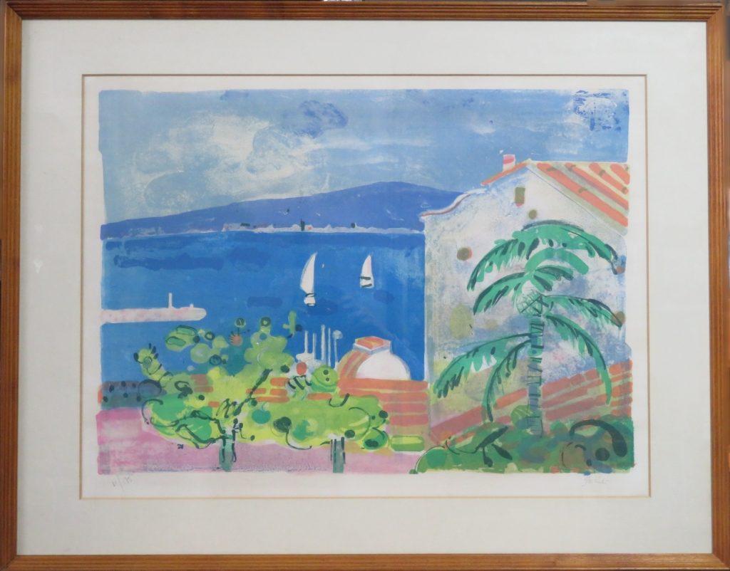 【版画】ジル・ゴリチ「サントマキシムの入江(リトグラフ)」を買取致しました。