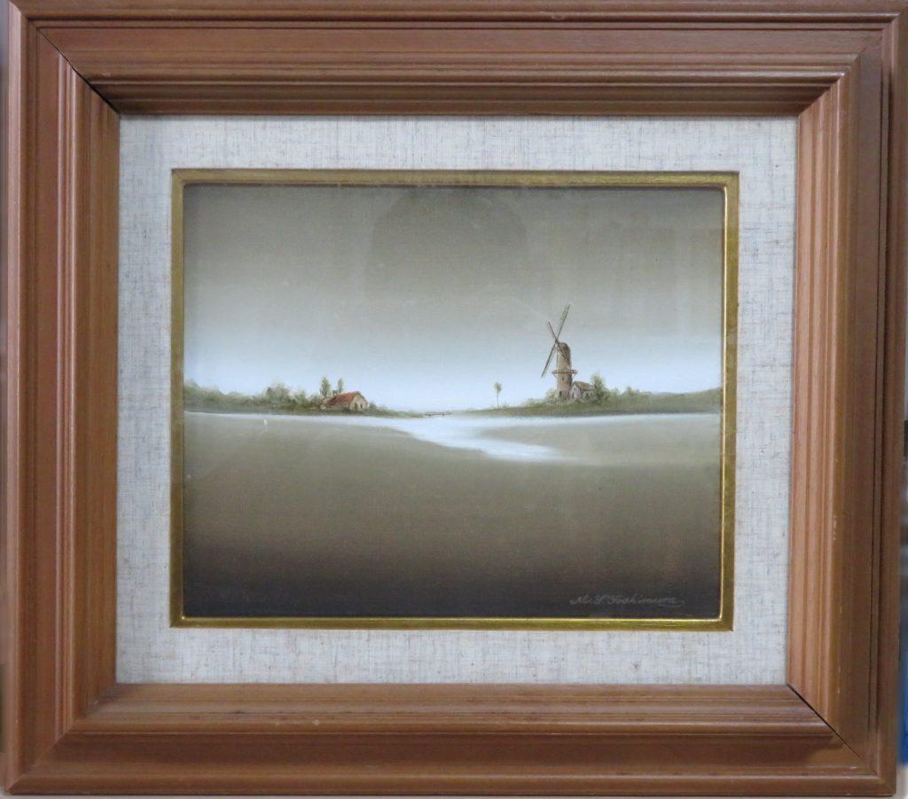 【油彩画(日本)】吉村明峰「薫風の光」を買取り致しました。