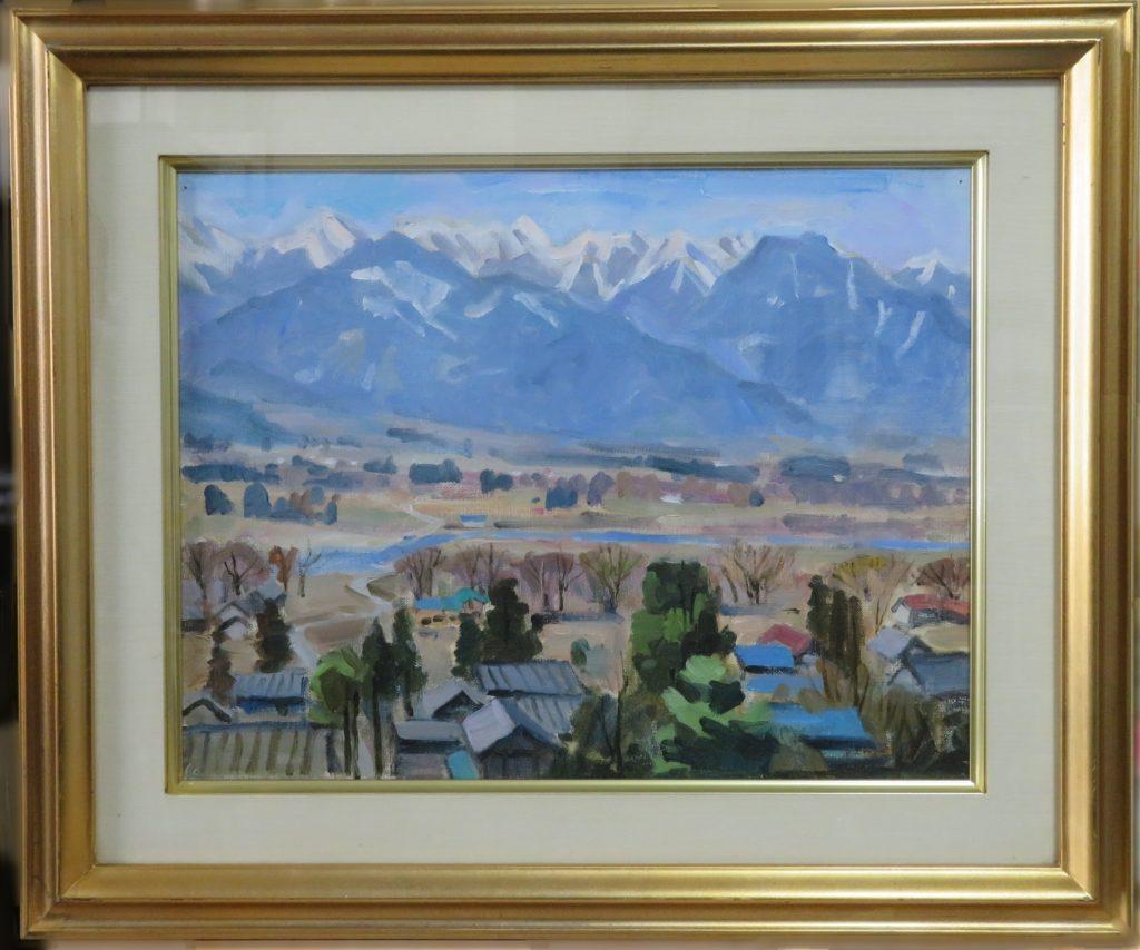 【油彩画(日本)】 垣内謙晴「安曇野」を買取り致しました。