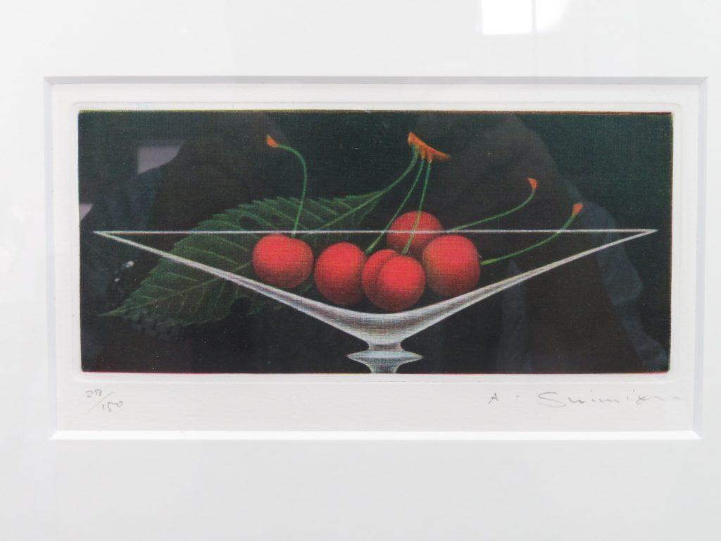 【版画 その他技法】清水 敦 エゾチント『五つのさくらんぼ』を買取り致しました。