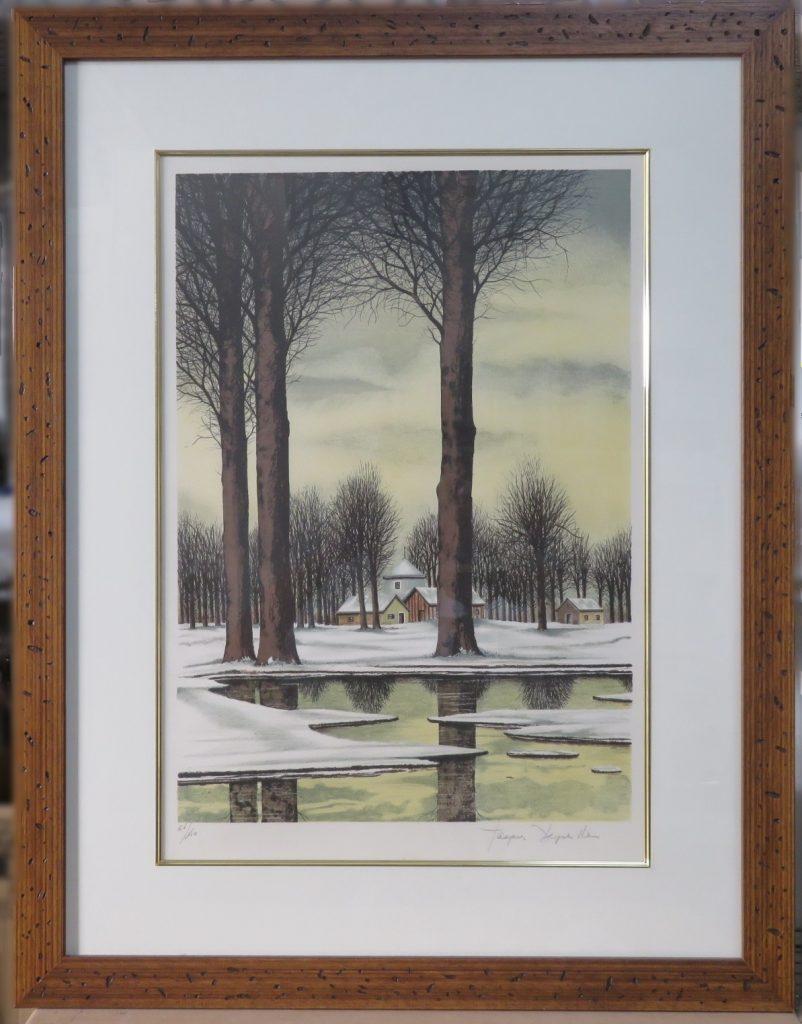【版画】ジャック デペルト「冬の薄日(リトグラフ)」を買取致しました。
