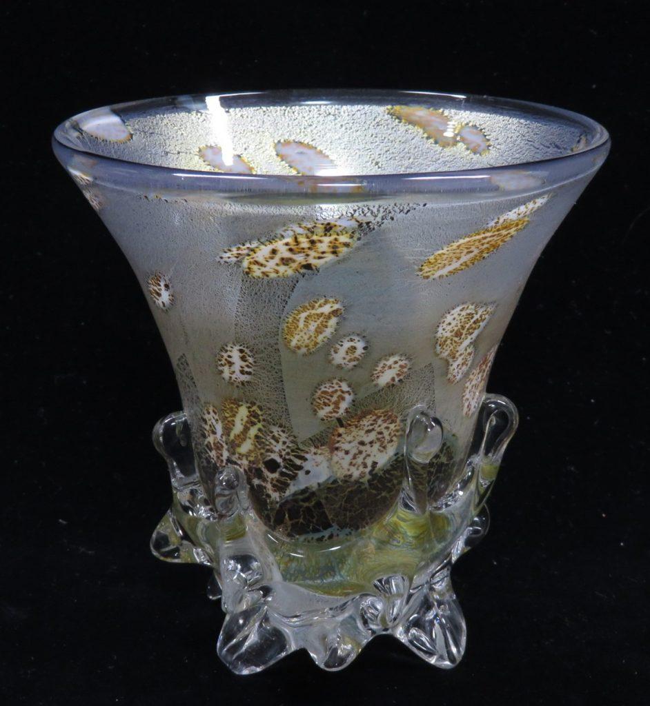 【硝子・切子】郡 和子「金箔散グラス」を買取り致しました。