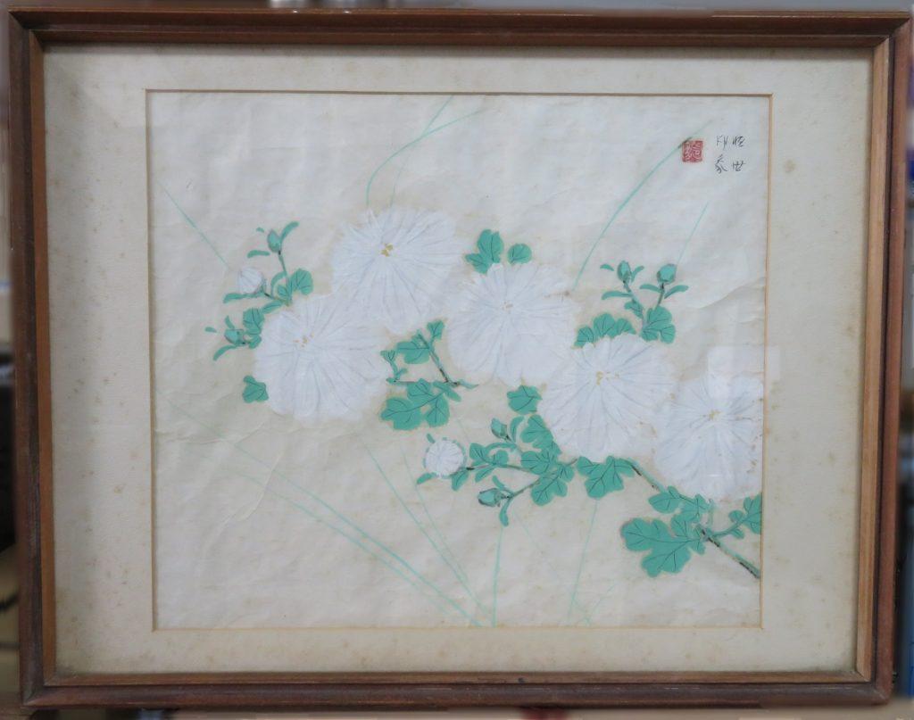 【日本画】堂本印象「菊」を買取り致しました。