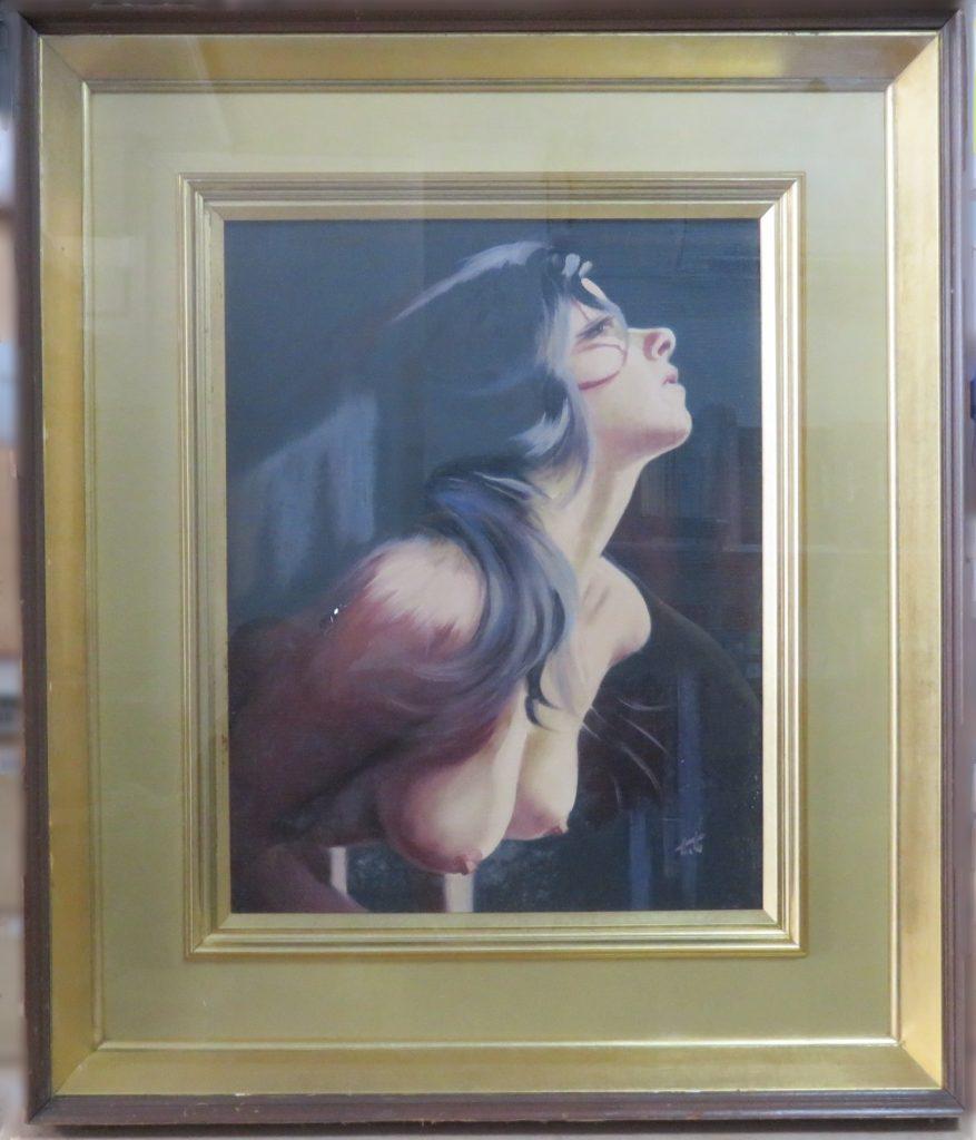 【油彩画(日本)】谷崎 勉「裸婦」を買取り致しました。