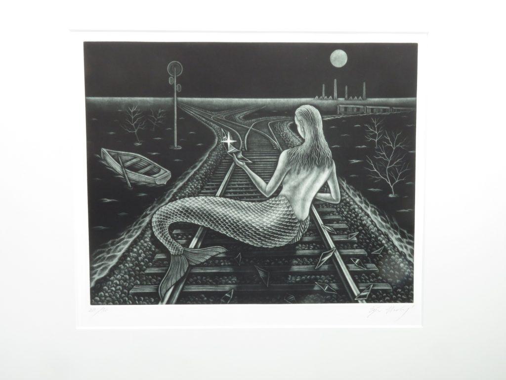 【版画 その他技法】梅木英治「洪水のあと」を買取り致しました。