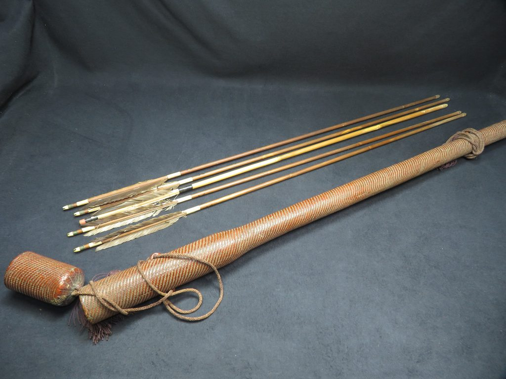 【骨董品・その他】「弓矢・矢筒」を買取り致しました。