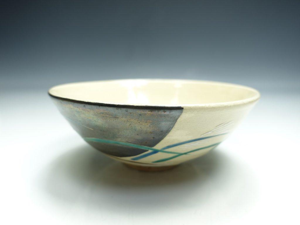 【茶碗】永楽善五郎 「仁清写式花野 茶碗」を買取り致しました。