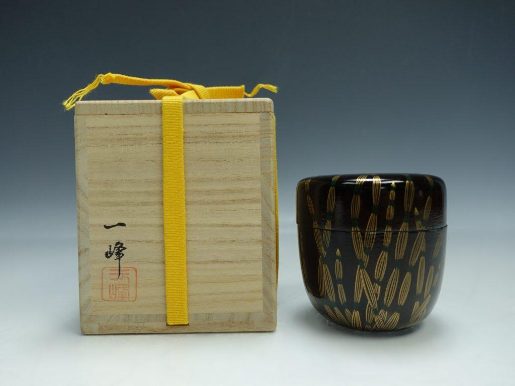 【棗】吉田一峰 「即中斎好 蒔絵木賊紋一閑 棗」を買取り致しました。
