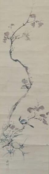 【花鳥図】岡本秋暉 「秋景 花鳥図」を買取り致しました。