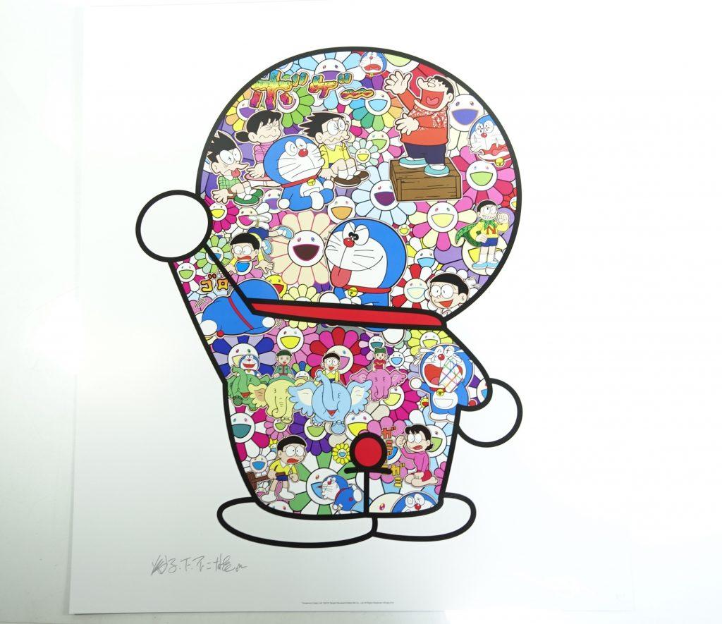 【版画 その他技法】村上隆「ドラえもんの日常(ポスター)」を買取り致しました。