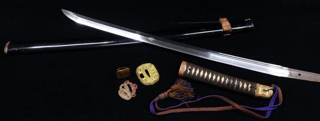 【刀剣】 無銘「黒塗鞘陸軍軍刀」を買取り致しました。