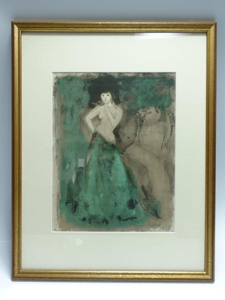 【版画(リトグラフ)】レオノール・フィニ「たたずむ女性」を買取り致しました。
