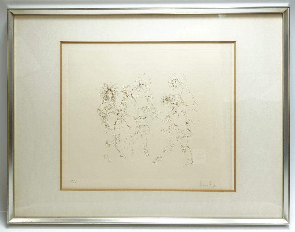 【版画 その他技法】レオノール・フィニ「戯れ(エッチング)」を買取り致しました。