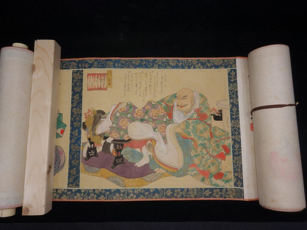 【日本画】無銘「浮世絵巻物春画」を買取り致しました。
