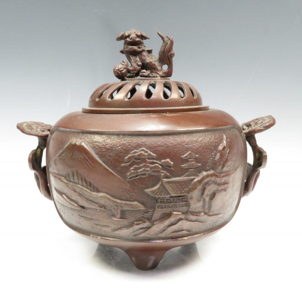 【銅製品】無銘「銅製獅子香炉」を買取り致しました。