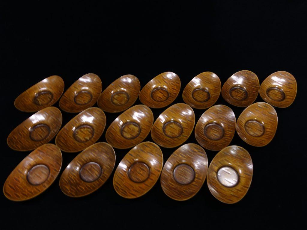 【銅製品】尚美堂「黄銅茶托」を買取り致しました。