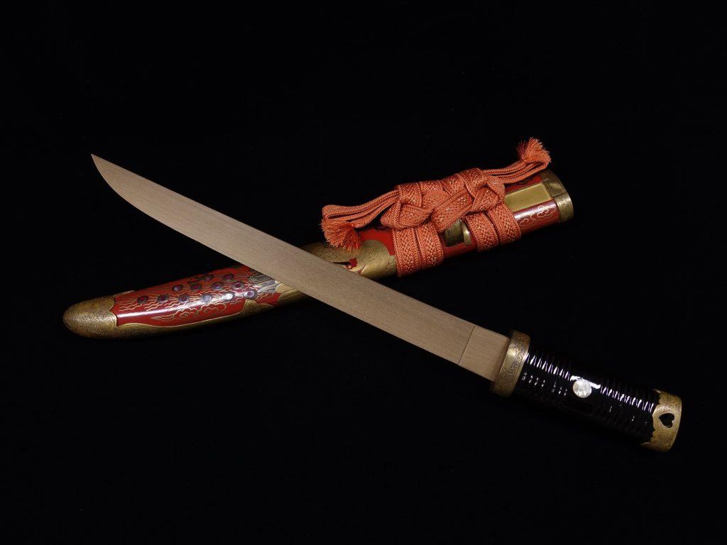 【刀剣・刀装具その他】 無銘「鳳凰蒔絵唐草蝶文象嵌朱塗鞘 拵・竹光 」を買取り致しました。