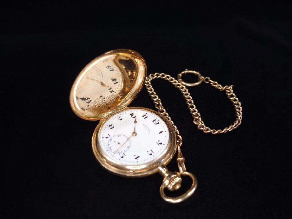 【西洋美術・その他】 A. Lange&Sohne 「ランゲ&ゾーネ 24k製 懐中時計」を買取り致しました。