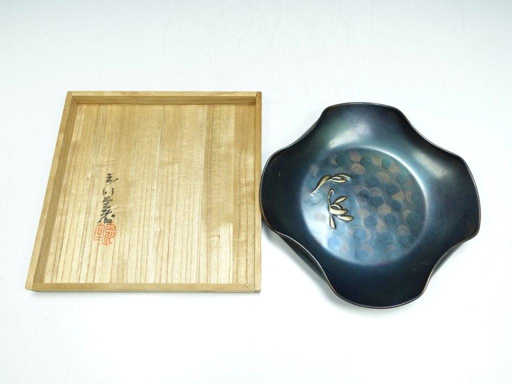 【銅製品】玉川堂「菓子器」を買取り致しました。