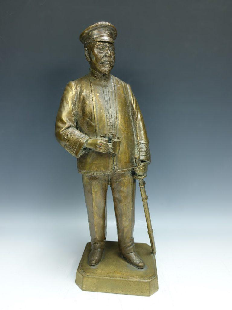 【銅製品】無銘 東郷平八郎 ブロンズ像を買取り致しました。